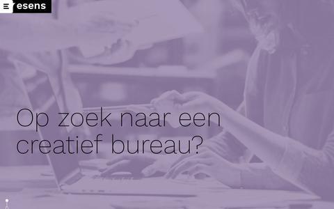 Screenshot of Home Page esens.nl - Ontwerp, communicatie en reclame | esens design creatief bureau - captured Sept. 25, 2018