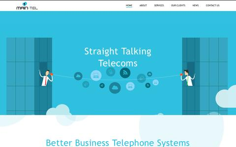 Screenshot of Home Page main-tel.co.uk - Main-Tel | Business Telephone Systems, Telecommunications Providers - captured May 27, 2017