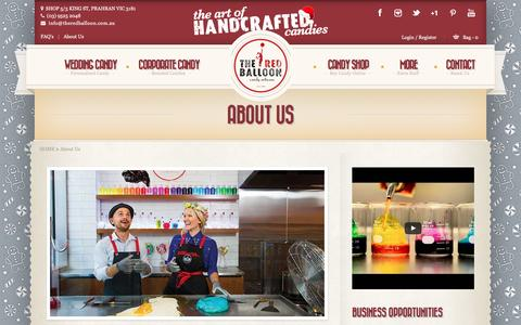 Screenshot of About Page theredballoon.com.au - About The Red Balloon Candy Artisans - captured Dec. 1, 2016