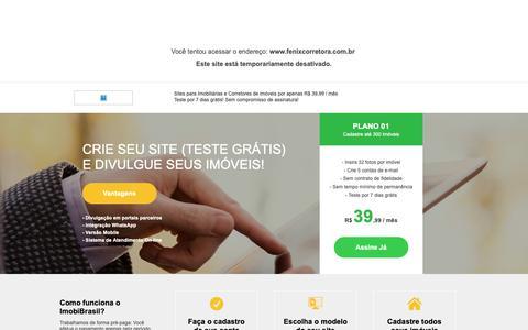 Screenshot of Home Page fenixcorretora.com.br - IMOBIBRASIL - Site para Imobiliárias (Teste Grátis) - captured Dec. 19, 2018