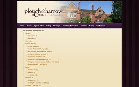 Screenshot of Site Map Page ploughandharrowhotel.co.uk - Site Map - captured Sept. 30, 2014