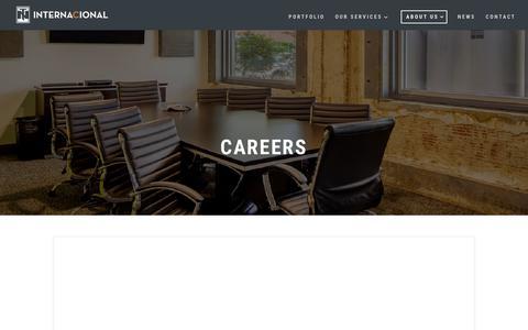 Screenshot of Jobs Page internacionalrealty.com - Careers | Internacional Realty - captured Oct. 12, 2018