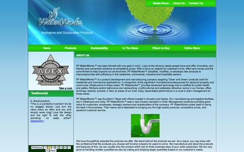 Screenshot of About Page pfwaterworks.net - Welcome to permaflow company - captured Sept. 17, 2014