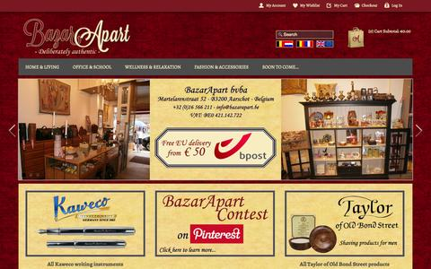 Screenshot of Home Page bazarapart.be - Home page - captured Sept. 30, 2014