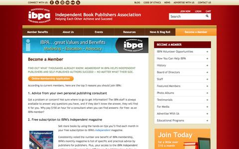 Screenshot of Signup Page ibpa-online.org - Become a Member - IBPA - captured Sept. 22, 2014