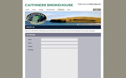 Screenshot of Contact Page caithness-smokehouse.com - Contact Us  :: Caithness Smokehouse - captured Sept. 26, 2014