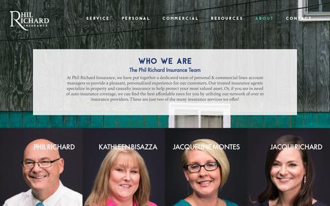 Screenshot of Team Page philrichardinsurance.com - Who We Are   Independent Insurance Broker   Phil Richard Insurance - captured Sept. 28, 2018