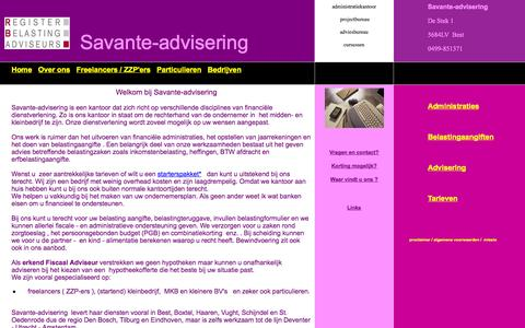 Screenshot of Home Page savante-advisering.nl - Savante-advisering - captured Sept. 30, 2014