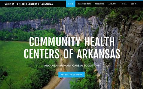 Screenshot of Home Page chc-ar.org - Community Health Centers of Arkansas - Home - captured Sept. 18, 2015