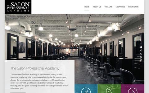 Screenshot of Home Page thesalonprofessionalacademy.com - The Salon Professional Academy TSPA - captured Dec. 14, 2018
