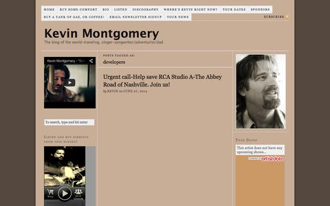 Screenshot of Developers Page kevinmontgomery.com - developers - captured Sept. 30, 2014