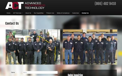 Screenshot of Contact Page actcomp.com - Contact Us - Advanced Compressor Technology - captured Oct. 4, 2014