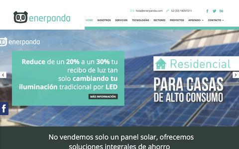 Screenshot of Home Page enerpanda.com - Enerpanda - captured Dec. 10, 2015