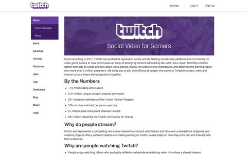 Twitch.tv - About