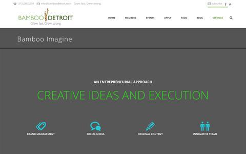 Screenshot of Services Page bamboodetroit.com - Portfolio - captured Oct. 29, 2014