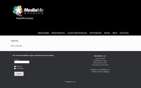 Screenshot of Site Map Page mediamixstudios.com - Site Map - Video and TV Studio - captured Dec. 10, 2018