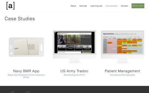 Screenshot of Case Studies Page thisisarray.com - Case Studies | Array Digital - captured Oct. 14, 2017