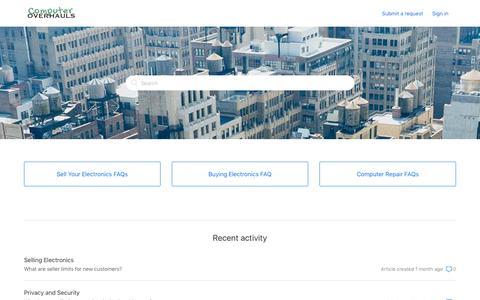 Screenshot of FAQ Page computeroverhauls.com - Computer Overhauls - captured July 21, 2018