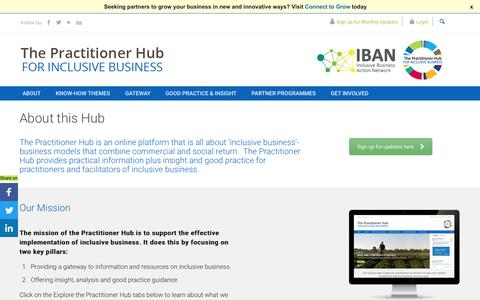 Screenshot of About Page inclusivebusinesshub.org - About the Practitioner Hub for Inclusive Business - captured Feb. 2, 2017