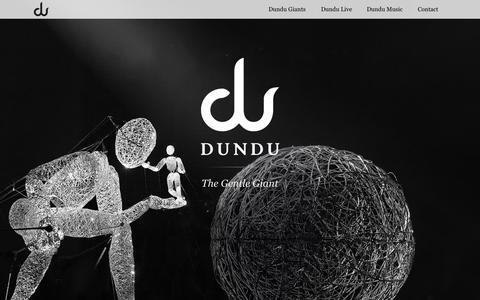 Screenshot of Home Page dundu.eu - Dundu – Der sanfte Riese | Eine weitere WordPress-Seite - captured Oct. 7, 2015