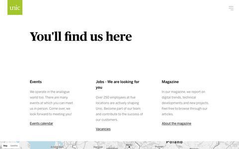 Screenshot of Locations Page unic.com - Locations  - Unic - captured Oct. 19, 2017