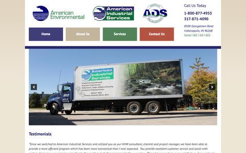 Screenshot of Testimonials Page americanenvironmental.net - Testimonials   American Environmental Corporation - captured Oct. 3, 2018