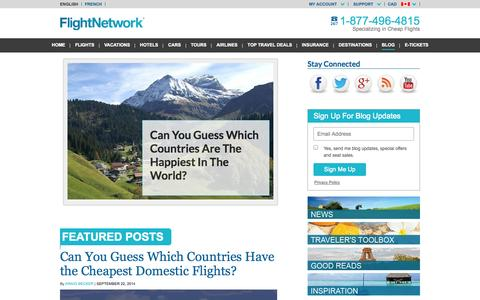Screenshot of Blog flightnetwork.com - Let's Roll, a travel blog by FlightNetwork.com - - captured Sept. 18, 2014