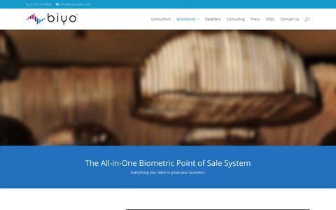 Screenshot of Signup Page Pricing Page biyowallet.com - Biometric Point of Sale Solutions | Biyo (formerly PulseWallet) - captured Oct. 5, 2014