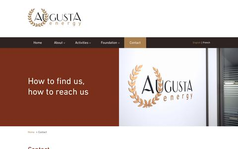 Screenshot of Contact Page augusta-energy.com - Your contact in petroleum products trading | Augusta Energy - captured Oct. 2, 2018