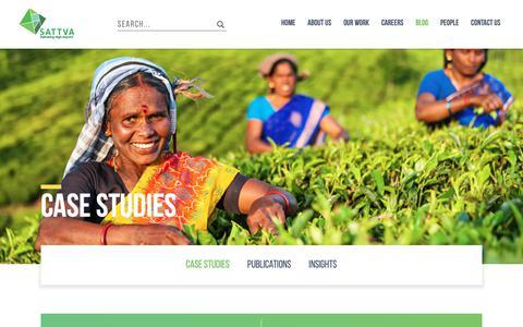 Screenshot of Case Studies Page sattva.co.in - Sattva Consulting - Case Studies - captured Dec. 17, 2018