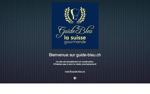 Screenshot of Home Page guide-bleu.ch - Bienvenue sur guide-bleu.ch - captured Dec. 2, 2018