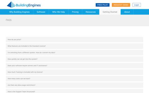 Screenshot of FAQ Page buildingengines.com - Frequently Asked Questions (FAQs) | Building Engines - captured June 28, 2017