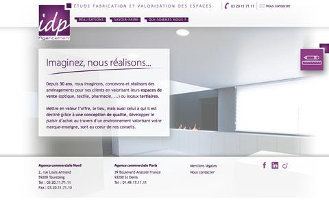 Screenshot of Home Page idp-agencement.fr - IDP Agencement | étude fabrication et valorisation des espaces - captured May 26, 2017