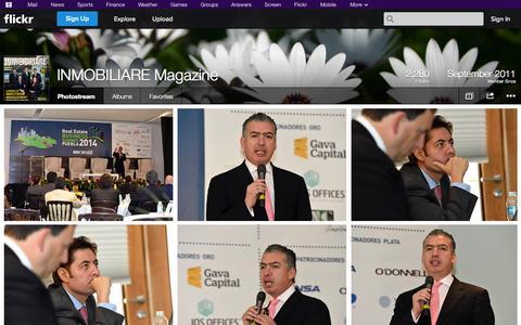 Screenshot of Flickr Page flickr.com - Flickr: INMOBILIARE Magazine's Photostream - captured Oct. 23, 2014