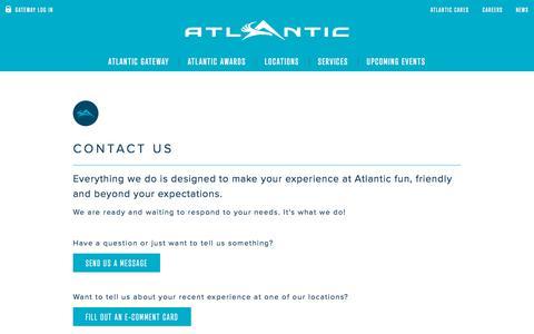 Screenshot of Contact Page atlanticaviation.com - Atlantic Aviation - Contact Us - captured Oct. 15, 2019