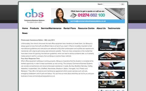 Screenshot of Press Page commercebusinesssystems.co.uk - News | Photocopiers Bradford | Office Printers Preston - captured Oct. 2, 2014