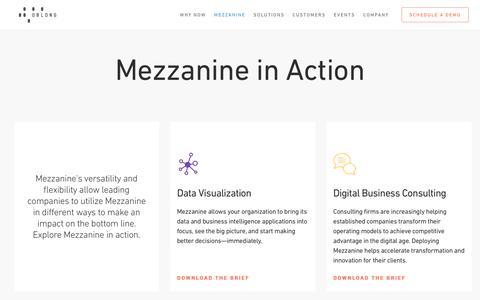 Mezzanine in Action - oblong industries, inc.