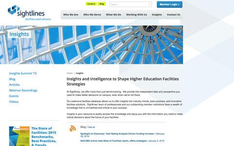 Insights | Sightlines