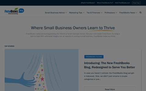 Screenshot of Blog freshbooks.com - Small Business Blog, Tips, News, Advice | FreshBooks Blog - captured March 29, 2017
