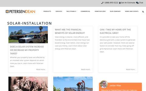 Screenshot of Blog petersendean.com - Solar-Installation | PetersenDean Roofing & Solar - captured July 14, 2019