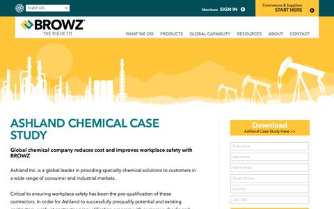 Screenshot of Case Studies Page browz.com - Ashland Case Study with BROWZ - captured Sept. 29, 2018