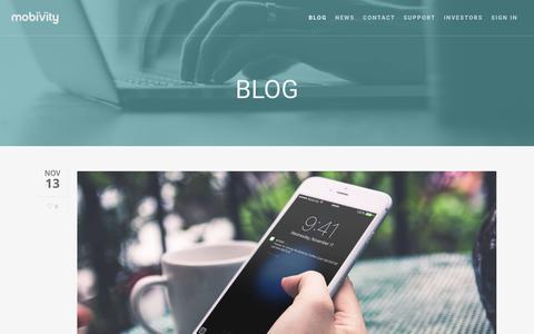 Screenshot of Blog mobivity.com - Blog - Mobivity - captured Jan. 30, 2016