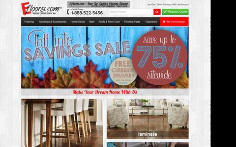 Screenshot of Home Page efloors.com - Discount Laminate, Hardwood, Vinyl, Cork Flooring, Area Rugs & Floor Care         Products | Efloors.com - captured Oct. 19, 2015