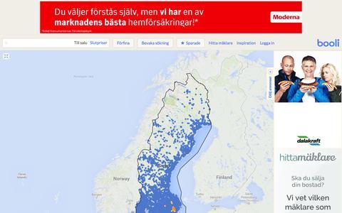 Screenshot of Maps & Directions Page booli.se - Bostäder till salu i Sverige - Booli.se - captured Sept. 18, 2014