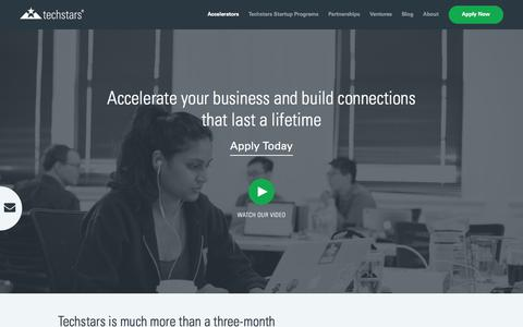 What is the Techstars Startup Accelerator Program?