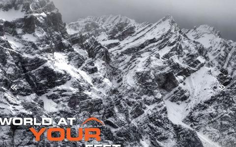 Screenshot of Home Page skiare.com.au - Skiing the Italian Dolomites from Alta Badia - Skiare Ski Tours - captured Nov. 19, 2018