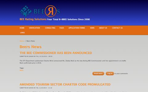 Screenshot of Press Page beeratingsolutions.co.za - Beers News | BEE Rating Solutions - captured Feb. 7, 2016