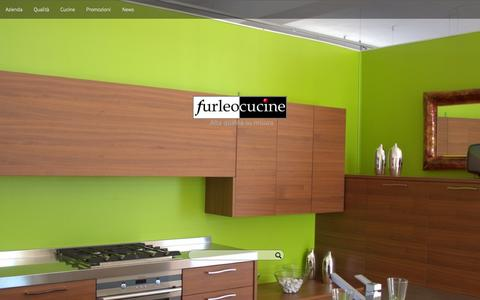 Screenshot of Home Page furleo.it - Furleo Cucine - Alta qualità su misura - captured Oct. 14, 2015