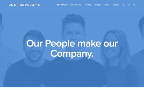Screenshot of Team Page justdevelop.it - Just Develop It: Our People make our Company. - captured Oct. 16, 2017