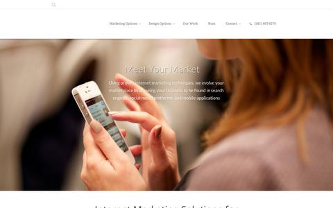 Screenshot of Menu Page loncht.com - Loncht | Meet Your Market - captured Dec. 13, 2015